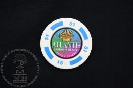 Vintage 1980's Atlantis Casino - Resort, Reno, Nevada, United States - One Dollar Gaming Token/ Chip - Casino
