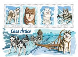 GUINEA BISSAU 2014 - Arctic Dogs - YT 5532-5; CV = 17 € - Other Means Of Transport