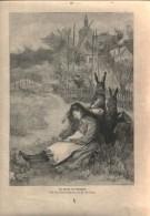 """Der Traum Vom Osterhasen  - Druck, Entnommen  Aus """"die Gartenlaube"""", 1897 - Zeitungen & Zeitschriften"""