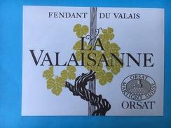 1658 - Suisse Valais Fendant La Valaisanne - Etiquettes