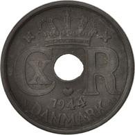Danemark, Christian X, 25 Öre, 1944, Copenhagen, TTB, Zinc, KM:823.2a - Dänemark
