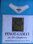 1679 - Suisse Vaud Pinot-Gamay De Saint-Saphorin 1976 Gérard Fonjallaz - Etiquettes
