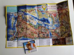 Alt916 Pocket Map Mappa Abu Dhabi United Arab Emirates Palace Emirati Airport Mall Embassy Tower Mosque Sport Ferrari F1 - Mappe