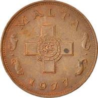 Malte, Cent, 1977, British Royal Mint, TTB+, Bronze, KM:8 - Malta