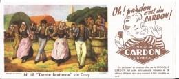 Buvard Chocolat Cardon Cambrai. Danse Bretonne De Douy. - Chocolat