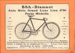 CYCLISME - VELO - PUBLICITE Tirée D'une Revue De 1907 Et Collée Sur Carton - Publicités