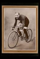 CYCLISME - VELO - Portrait De MAYER Tiré D´une Revue De 1904 Et Collé Sur Feuille A4 - Vieux Papiers