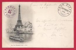 CPA Paris - Tour Eiffel Septembre 1900 - Tour Eiffel