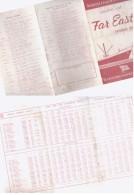 Hamburg American Line   Sailing List - Boats