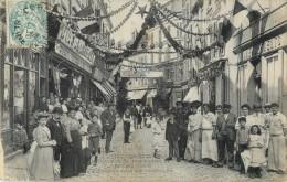 91 CORBEIL - CONCOURS DE MANOEUVRES DE POMPES 1906 - DECORATION DE LA RUE SAINT SPIRE - Corbeil Essonnes