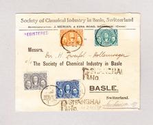 China Briefvorderseite (Front) Shanghai Nach Basel Frankiert Mit 1921 Präsident Xu Shi Cang Serie - 1912-1949 République