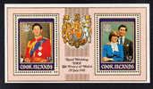 Cook Islands MNH Scott #660a SG #MS814 Souvenir Sheet Of 2 Royal Wedding Prince Charles, Lady Diana - Cook