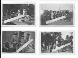 1917 Clermont Breuvanne En Basagny Ambulance Américaine Infirmières Et Infirmiers 4 Photos 1914-1918 14-18 Ww1 Wk1 - War, Military
