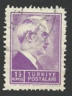Turkey, 1 1/2 K. 1945, Sc # 877A, Mi # 1137, Used - 1921-... Republic