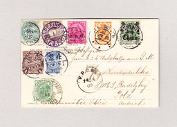 China 1908 AK Aus Pekin Nach Pola 8 Länder Frankatur Resp. Auslandpostämter In Peking Siehe Beschreibung - Lettres & Documents