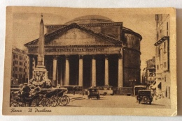 ROMA IL PANTHEON 1925 VIAGGIATA FP - Pantheon