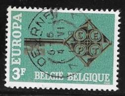 N° 1452      EUROPA  BELGIQUE   -  1968  TRES BEAU CACHET - Belgium