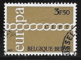 N° 1578      EUROPA  BELGIQUE   -  1971 - Used Stamps