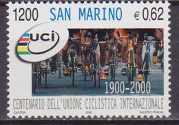 SAN MARINO 2000 CICLISMO CYCLING 1741 MNH - Ciclismo