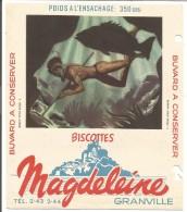 BUVARD BISCOTTES MAGDELEINE - PECHE SOUS MARINE - Carte Assorbenti
