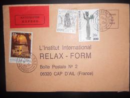 Chypre , Lettre Expres De Nicosia 1985 Pour Cap D Ail - Chypre (République)