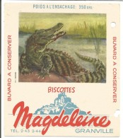 BUVARD BISCOTTES MAGDELEINE - CROCODILE - Carte Assorbenti