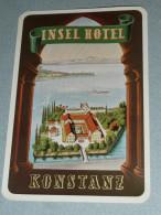 Rare Ancienne étiquette D'Hotel, Insel Hotel Konstanz, Constance Allemagne, Deutchland Germany - Other