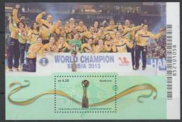 BRAZIL, 2016, MNH, SPORTS, HANDBALL, WOMEN WORLD CHAMPIONS, SERBIA 2013, S/SHEET - Handball