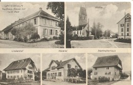 Schweiz, 1913, Unterkulm, Gasthaus Sonne Mit Cafe Post, Kirche, Lindenhof, Käserei,Statthalterhaus, Nach Steffisburg. S - Switzerland
