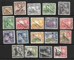 Malta 1948 KGVI Self Government Optd Selection To 2/6d Used  (4745) - Malte (...-1964)