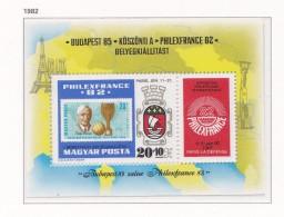 HONGRIE 1982 PHILEX FRANCE  BLOC 160 MNH - Hungary