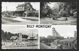 BILLY MONTIGNY Rare Multivues Gare Fosses... (La Cigogne) Pas De Calais (62) - Other Municipalities