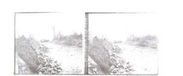 Guerre 1914-1918 Plaque De Verre Stéréo N°308 Prise De Courcelles - Diapositivas De Vidrio