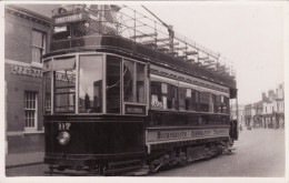 Tram Photo Bournemouth Corporation Tramways Tramcar Open Top Bogie Car - Trains
