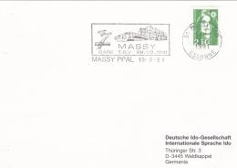 France Card P/m Massy PPAL 1991 Gare TGV Train In Postmark (SKO11-10l) - Eisenbahnen