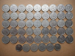 Luxembourg 1 Franc 1952-1990 (Lot Of 51 Coins) - Luxembourg