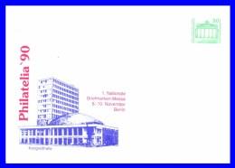 """2949 (Yvert) Sur Enveloppe Illustrée - Exposition Philatélique """"Philatelia 90"""" Kongreßhalle - Allemagne Orientale 1990 - [6] Oost-Duitsland"""