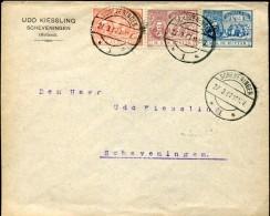 12577 Nederland, Circuled Cover 1907 With The Complete Set 300 Year Admiral Michiel De Ruyter, Postmark Scheveningen - Periode 1891-1948 (Wilhelmina)