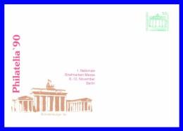 "2949 (Yvert) Sur Enveloppe Illustrée - Exposition Philatélique ""Philatelia 90"" Brandenburger Tor - RDA 1990 - [6] Democratic Republic"