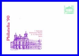 """2949 (Yvert) Sur Enveloppe Illustrée - Exposition Philatélique """"Philatelia 90"""" Postmuseum - Allemagne Orientale 1990 - [6] Repubblica Democratica"""