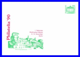 "2949 (Yvert) Sur Enveloppe Illustrée - Exposition Philatélique ""Philatelia 90"" Reichstagsgebäude - RDA 1990 - [6] Democratic Republic"