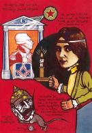 CPM Marquis De La FAYETTE Masonic Cléo De MERODE KAISER Caricature Tirage Limité JIHEL / LARDIE - Lardie