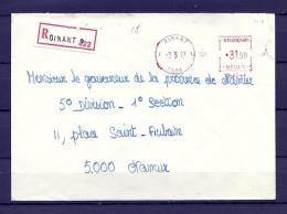 Brief Van Dinant Naar Namur - Franking Machines