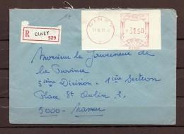 Brief Van Ciney Naar Namur - Franking Machines