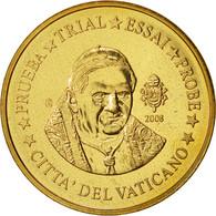 Vatican, Medal, 50 C, Essai-Trial Benoit XVI, 2008, SPL, Brass - Jetons & Médailles