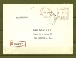 Brief Van Bruxelles 1 Brussel Naar Moustier Sur Sambre - Franking Machines
