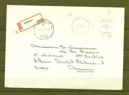 Brief Van Namur Naar Namur - Franking Machines