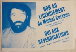 CPSM CGT NON AU LICENCIEMENT DE Michel CERTANO - Sindacati