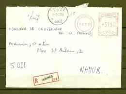Brief Van Tamines Naar Namur - Franking Machines