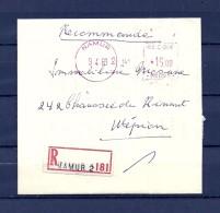 Brief Van Namur Naar Wepion - Franking Machines